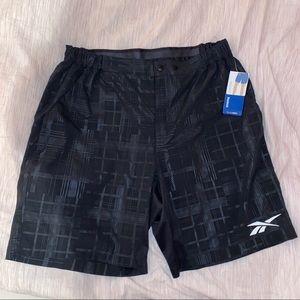 Reebok Emboss Swim Trunks Black Size XL